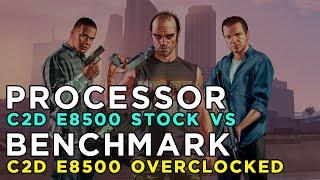 GTA 5 Grand Theft Auto 5 (2015) Gameplay Core 2 Duo E8500 STOCK vs OVERCLOCKED (GTX650/4GB RAM)