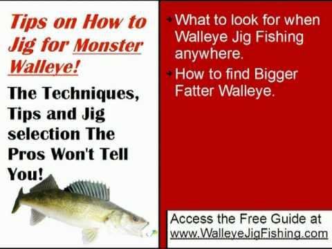 How to jig for walleye pro walleye jig fishing tips youtube for Jig fishing techniques