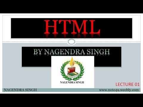 L1 HTML   Understanding HTML   Class 10 X   Computer Science   Video Lecture in Hindi  