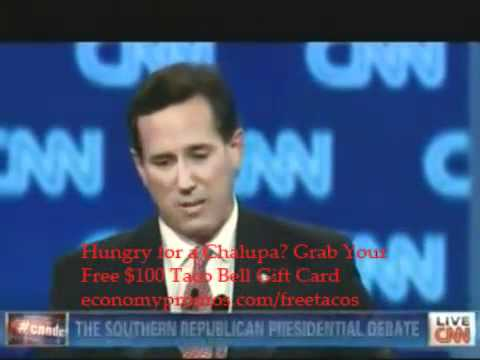 Pt. 10 - CNN Southern Republican GOP Presidential Debate - Charleston, SC - January 19, 2012