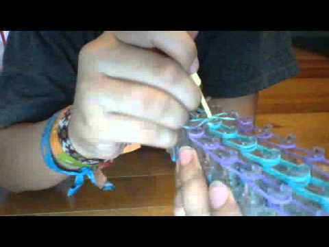 how to make a rainbow loom raindrop