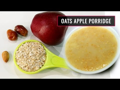 Baby Food || Oats Apple Porridge || Healthy & tasty food for 8 to 12 months kids