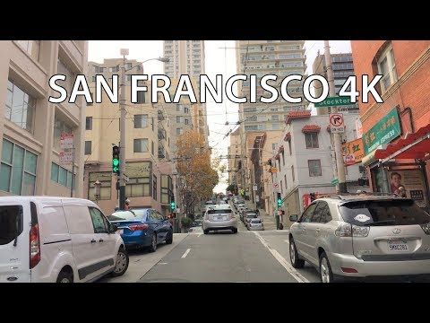 Driving Downtown Hills Of San Francisco San Francisco California Usa