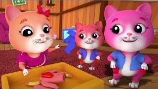 ba con mèo nhỏ | mèo con vần điệu cho trẻ em | bài hát cho trẻ em | ươm vần | Three Little Kittens