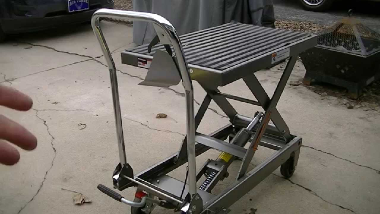 Harbor Freight 1000lb Hydraulic Table Cart Youtube