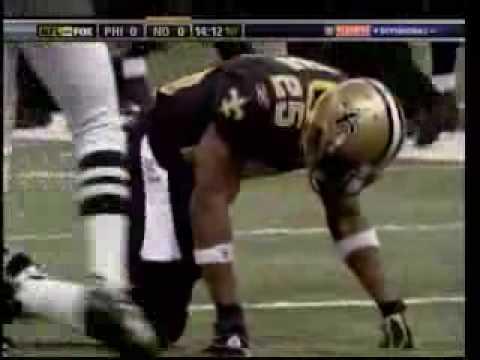 Reggie Bush gets lit up by Sheldon Brown (must see)