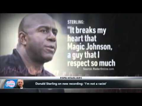 Sterling On New Tape  'I'm Not A Racist'