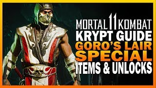 Mortal Kombat 11 Krypt Guide Part 2 - Goro's Lair Guide & Special Items