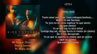 Mi Tesoro Letra Zion y Lennox Ft Nicky Jam Descarga Mp3