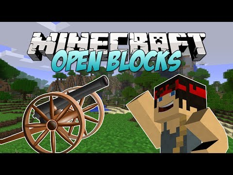 Minecraft Mod Spotlight - Open Blocks! (Cannons, Holograms, Gliders & More!)