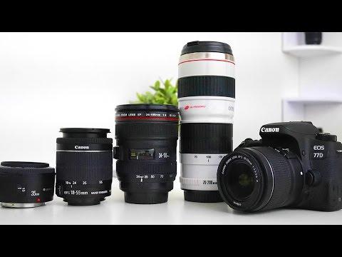 best lenses for the canon 77d! youtube
