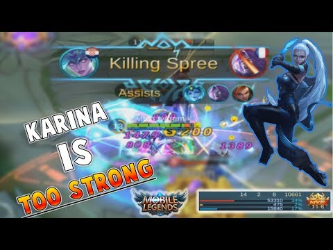 Mobile Legends : Karina Is Op … Insane MVP Gameplay + Build & Tips ! (Giveaway)