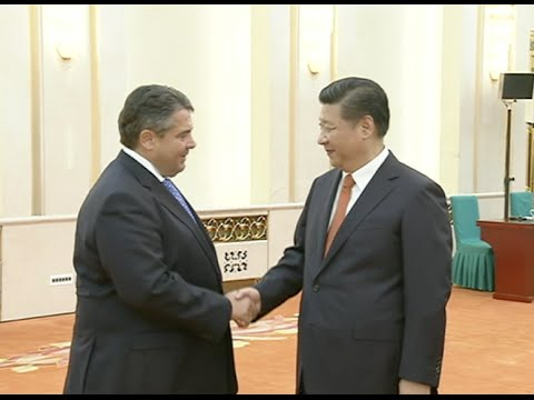 Chinese President Meets with German Vice-chancellor, Chairman of Social Democratic Party