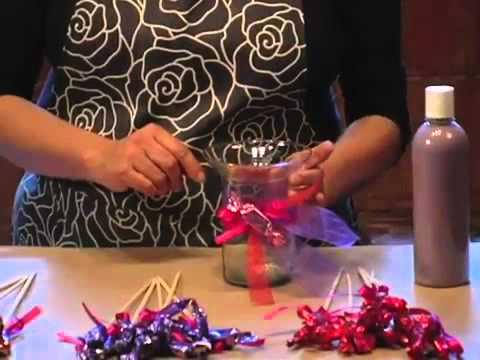 Arreglo de dulces y arena para XV años DIY Arrangement XV - YouTube