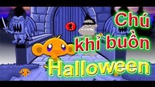 Game chú khỉ buồn halloween | Video hướng dẫn chơi game 24H