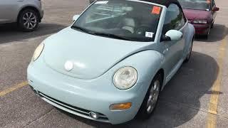 2003 VW Beetle cabriolet pov walkaround test drive auction car