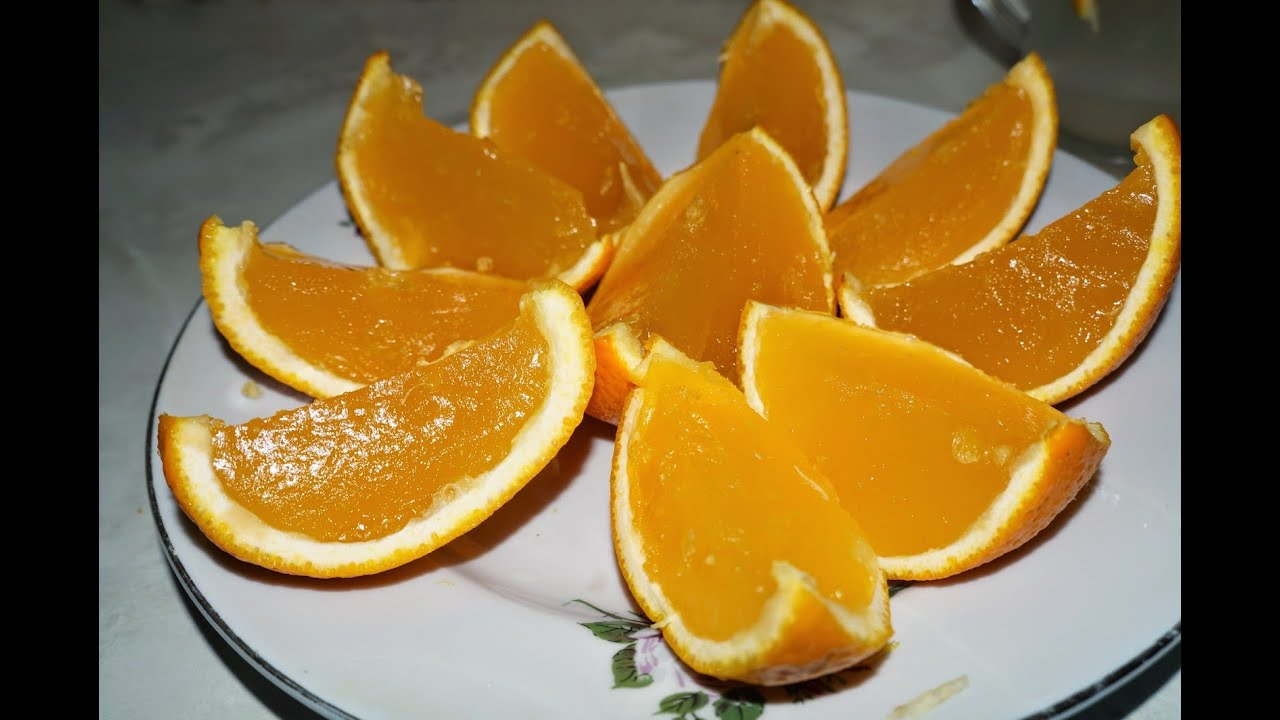 Как сделать супер вкусное желе из апельсинов - YouTube