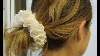 Lace Hair Scrunchie Pony Tail Holder Sewing Tutorial