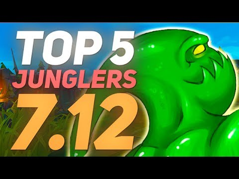 BEST JUNGLERS FOR WINNING SOLO QUEUE - Patch 7.12 - League of Legends