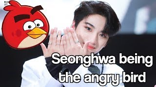 Seonghwa being the angry bird