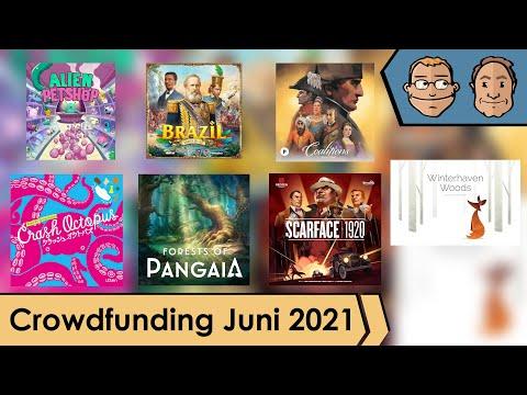 Brettspiel-Crowdfunding auf Kickstarter und der Spieleschmiede - Juni 2021