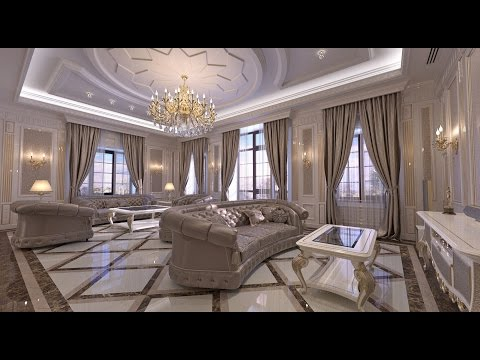 Interior design. Classic style Living room interior in the H Residense.