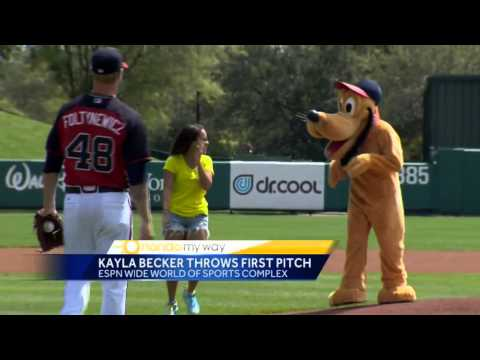 Orlando My Way's Kayla Becker throws Ceremonial First Pitch at Atlanta Braves Game