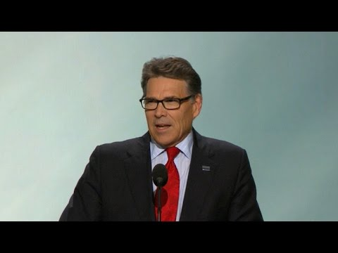 Former Texas Governor Rick Perry addressed Republican National Convention