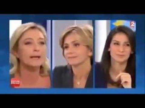 Jean Luc Mélenchon clash toute la famille LE Pen