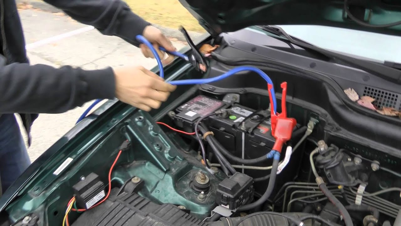 a Car With Jumper Cables