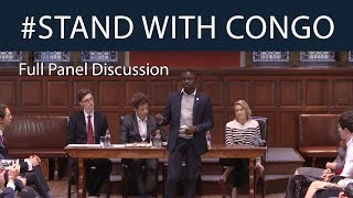 #StandWithCongo   Panel Discussion with Robin Wright   Oxford Union