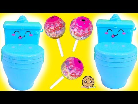 Pooparoos Squishy Animal with Surprise Water Toys !  Cookie Swirl C Video