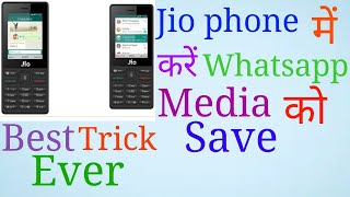 How to easily save jio phone WhatsApp media in your gallery