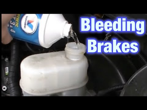 How to bleed your brakes Chevy Silverado Sierra  flushing the brake system with new fluid Very Easy!