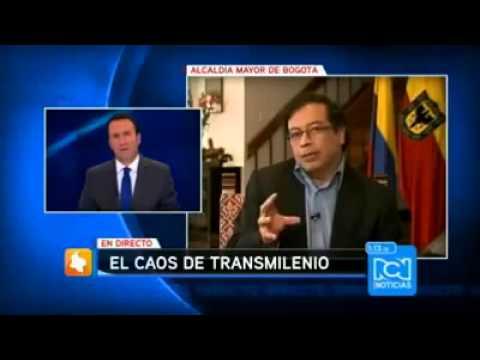 Metro Bogotá: Petro contundente y callando a RCN Noticias.