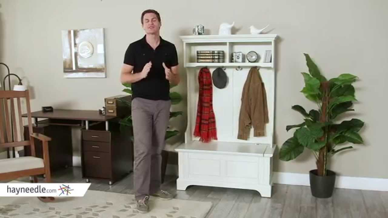 Home Styles Naples White Hall Tree With Storage Bench Product Review Video Youtube