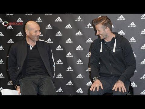 David Beckham meets Zinedine Zidane