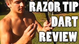 Blowgun Razor Tip Broadhead Dart Review!