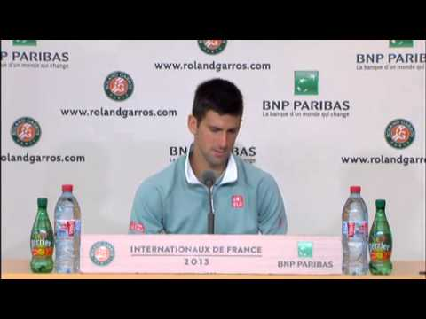 Novak Djokovic - QF press conference - RolandGarros 2013