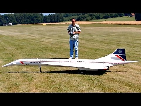 CONCORDE BRITISH AIRWAYS GIANT RC SCALE AIRLINER TURBINE MODEL JET / Airliner Meeting Airshow 2015
