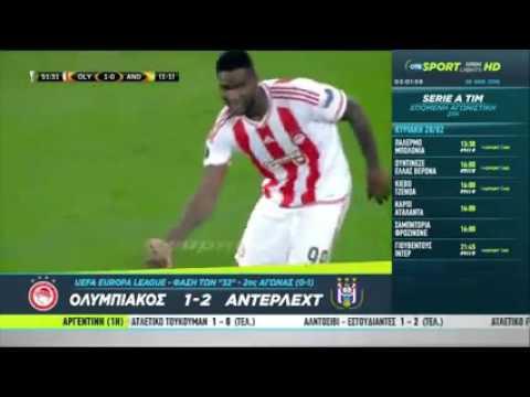 Olympiakos - Anderlecht 1-2 EL (25-2-2016)