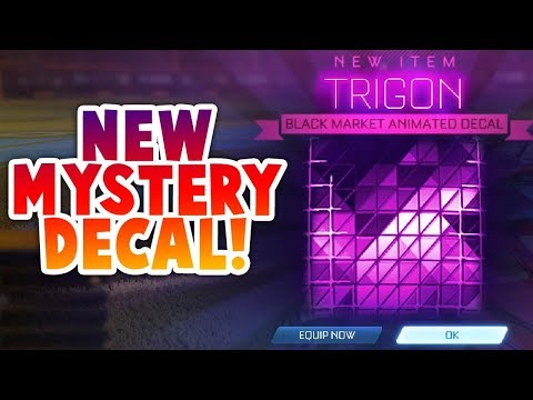 GETTING NEW TRIGON MYSTERY DECAL (ROCKET LEAGUE BEST TRADES)