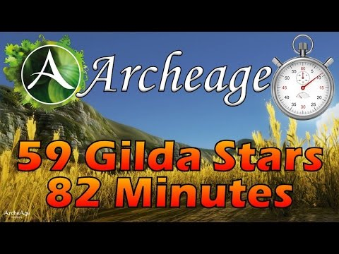 Archeage – 59 Gilda Stars In 82 Minutes (Elf Race, Free To Play)