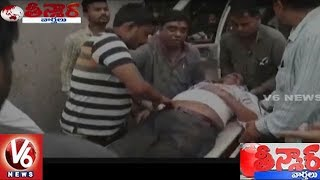 MLA Sunil Dutt Carries Road Accident Victim On His Back To Doctor | Teenmaar News