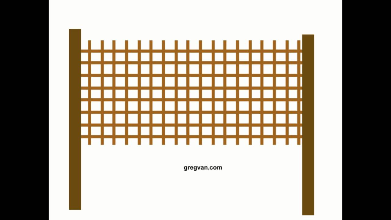 How to adjust lattice fence panels wood fencing youtube for How to build a lattice screen fence
