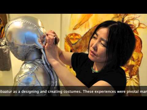 Mongolian artist Munkhtsetseg Jalkhaajav - interview at Schoeni Art Gallery