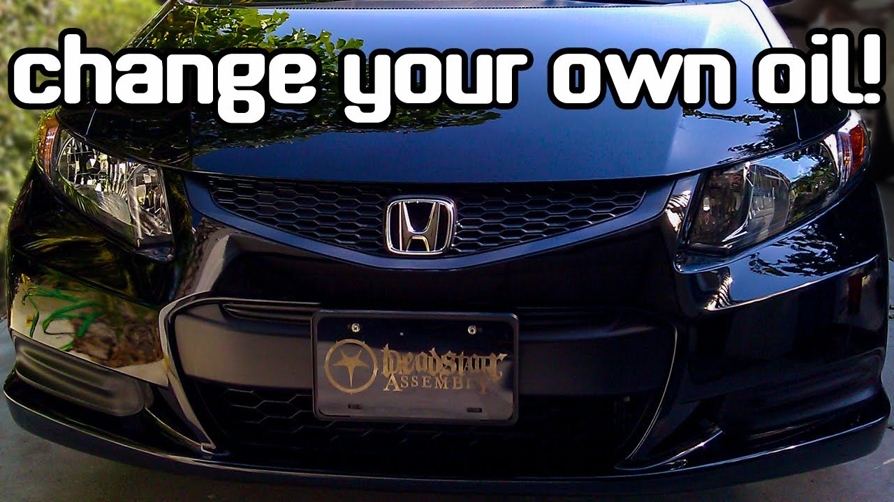 2012 honda civic lx oil change youtube for Honda civic oil change cost