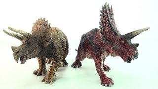 Schleich Triceratops Pentaceratops - Learn about Dinosaurs and numbers - learning math tri 3 pent 5