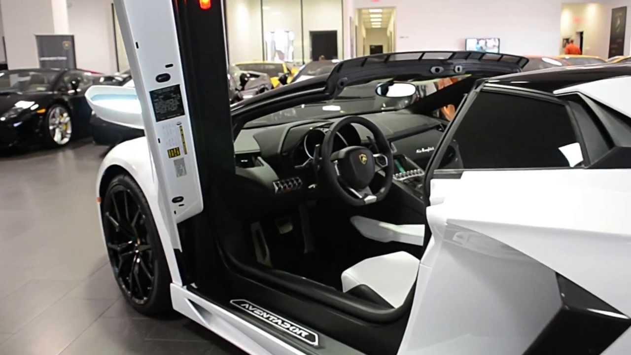 2013 Lamborghini Aventador Lp 700 4 Roadster Bianco Isis