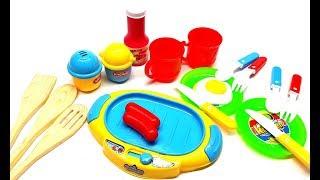Bé nấu ăn với bộ đồ chơi đầu bếp gồm 15 dụng cụ   bé tập làm đầu bếp   bộ đồ nấu ăn